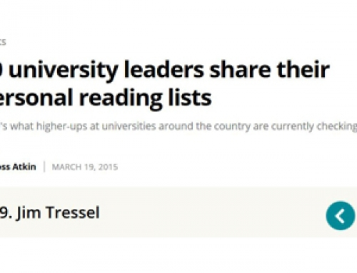 """Just Growth"" book made a university leader's personal reading list"